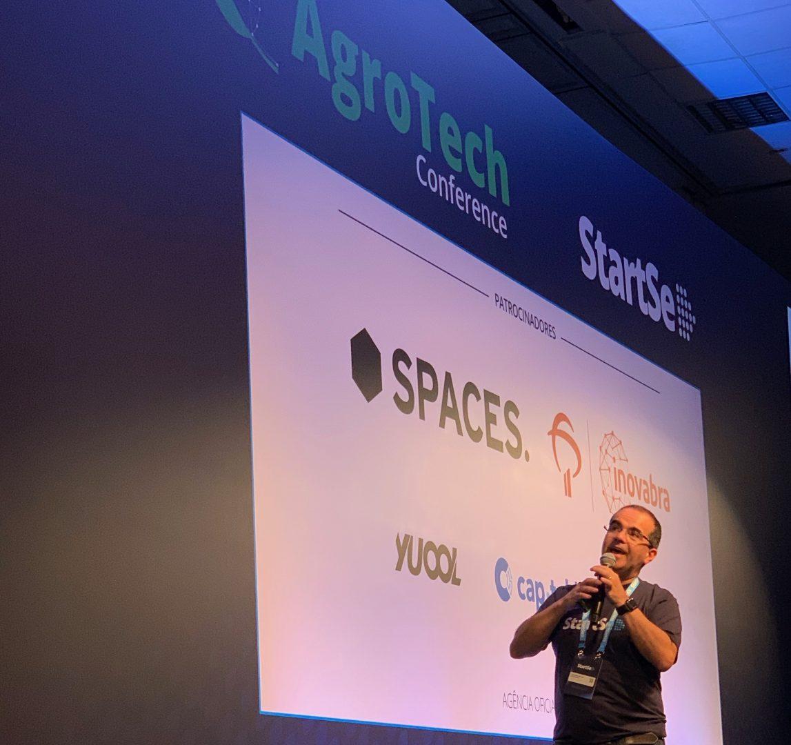 Cristiano Kruel da StartSe na abertura do Agrotech Conference